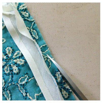 Faux piping: Trim the garment seam allowance