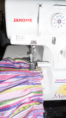Finish the seams between the tiers in whatever method you prefer.