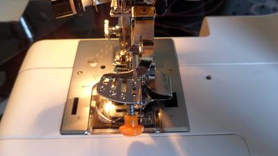 ruffler foot attached to my machine