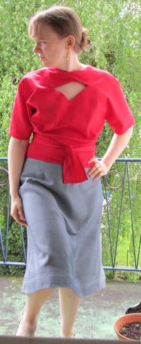 Second Prize (Tie): Margaret for Vogue Patterns: 2859 Misses' Jacket, Blouse and Dress