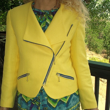 HawkeMorningStar7 for her jacket and dress Pictured: BurdaStyle Magazine: 11-2005-117 (Moto jacket)
