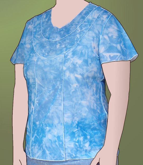 KnipMode Magazine: 05-2011-102 (Panelled top and dress)