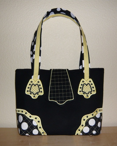 Second Prize (by Member Vote): Lynn WA for Self Drafted Pattern: 173224-1000 Designer Handbags