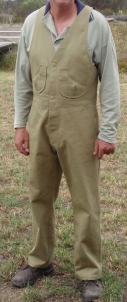 First Prize Winner in PatternReview's 2012 Menswear Contest Drafted from RTW: treefrog\'s Overalls