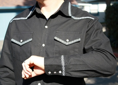 Second Prize Winner in PatternReview's 2012 Menswear Contest Wearing McCall's 6044 Men's Shirts