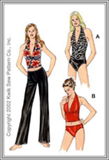 Kwik Sew 3063 Misses Swimsuits & Pants