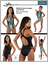 Jalie 3134 Women's Racerback Swimsuit