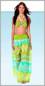 Burda 7228 Beach Coordinates: Bathing Suit, Skirt/Dress
