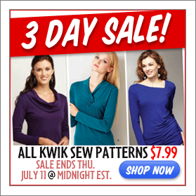 Kwik Sew Sale $7.99