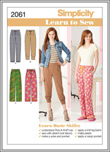 Simplicity 2061 Misses' Knit and Woven Pants