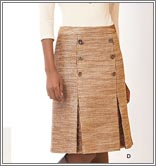 New Look 6079 Misses' Skirt in Three Lengths and Belt