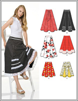 New Look 6944 Misses Skirt in Three Lengths