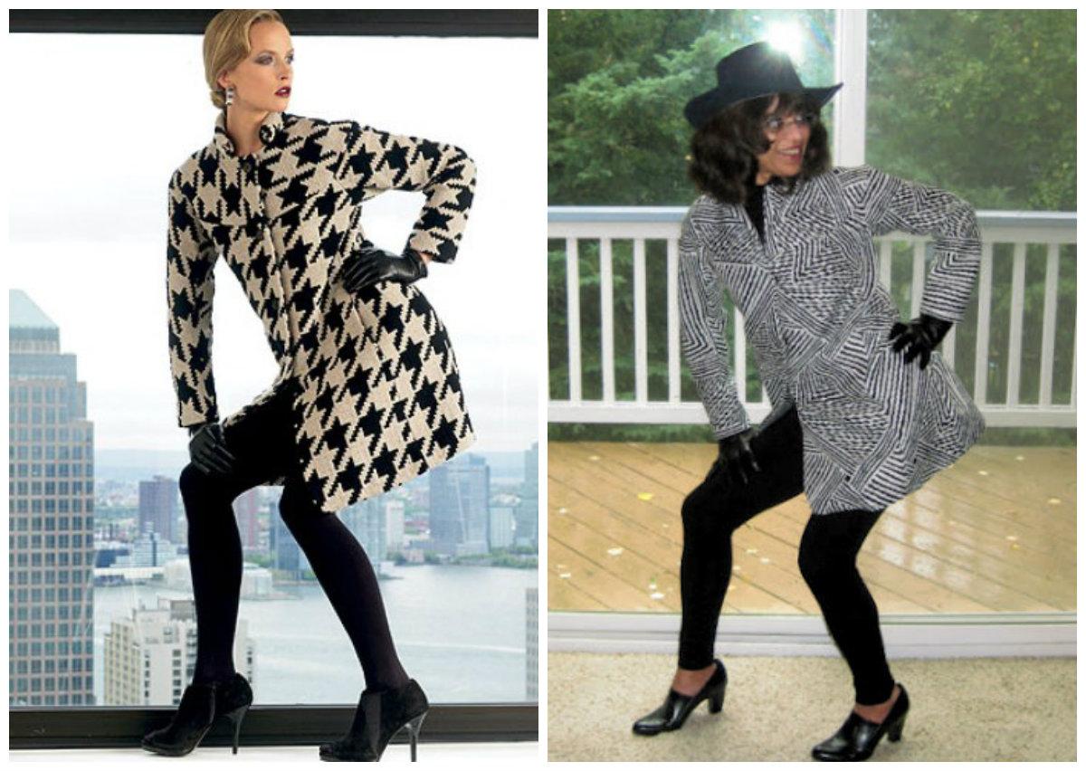 Left: Vogue 1320.  Right: Chenille's Vogue 1320