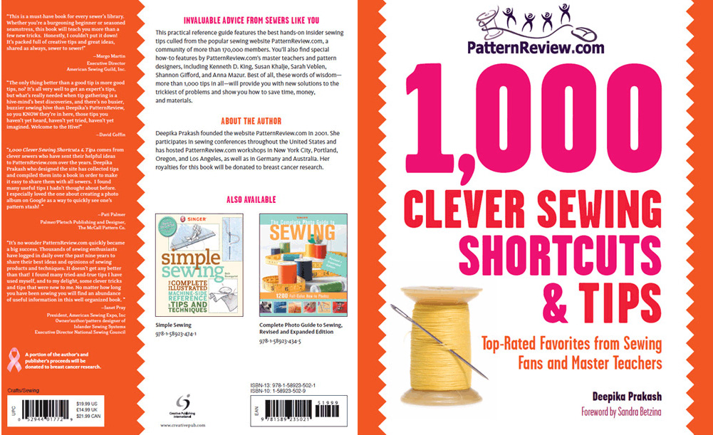 PatternReview 1,000 Clever Sewing Shortcuts & Tips Downloadable Pattern book-cleversewingtips