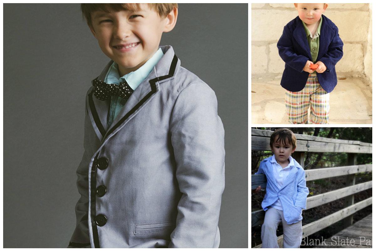 Blank Slate Child's Blazer Downloadable Pattern Basic Blazer