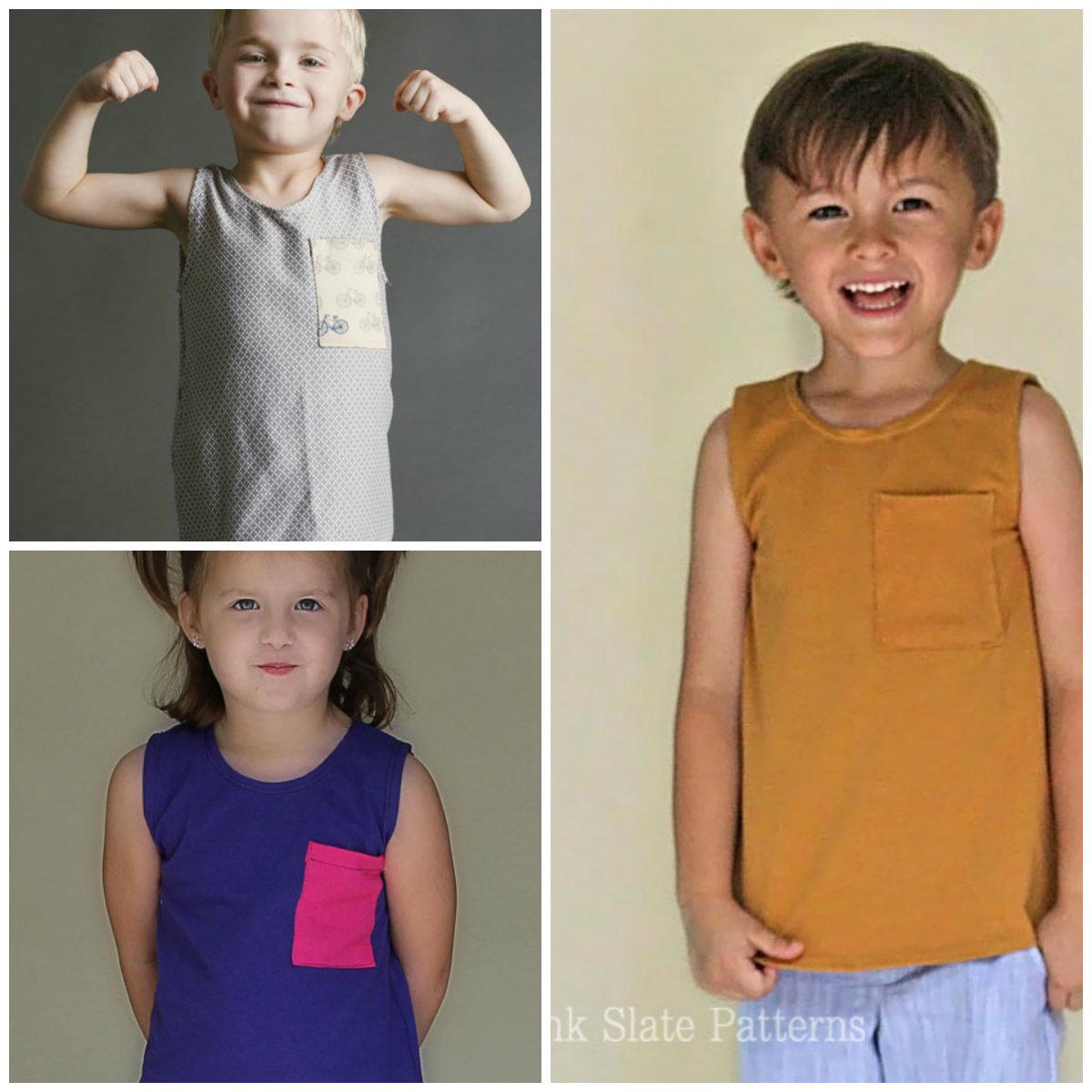 Blank Slate Child's shirt Downloadable Pattern Blank Tank