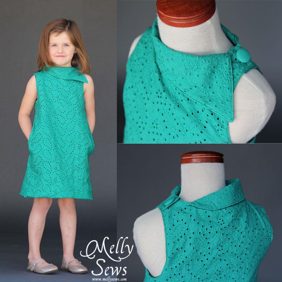 Blank Slate Child's Dress Downloadable Pattern Fresh Bloom Frock