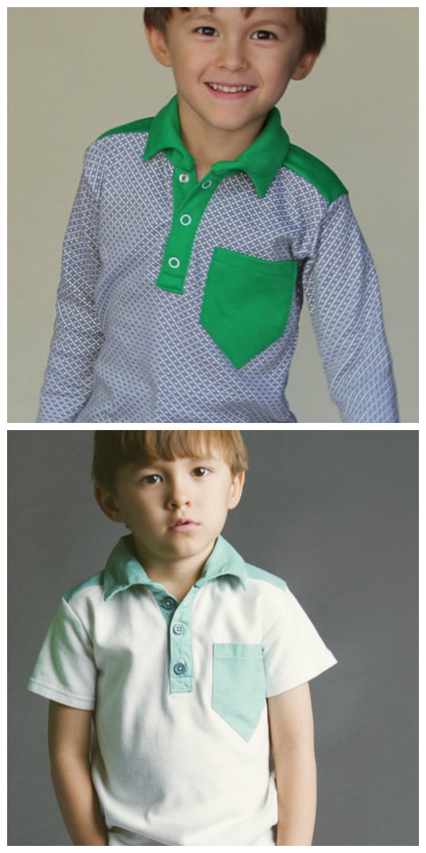 Blank Slate Child's Shirt Downloadable Pattern Perfect Polo