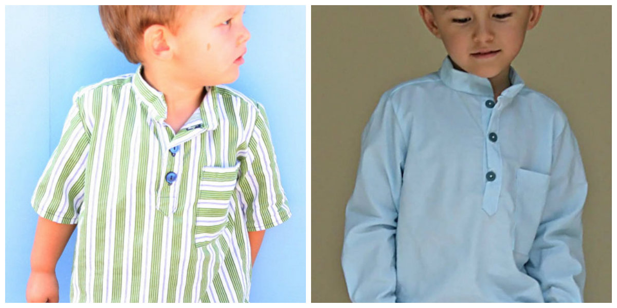Blank Slate Child's shirt Downloadable Pattern Prepster Pullover
