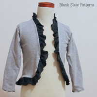 Blank Slate Ruffled Cardigan Digital Pattern