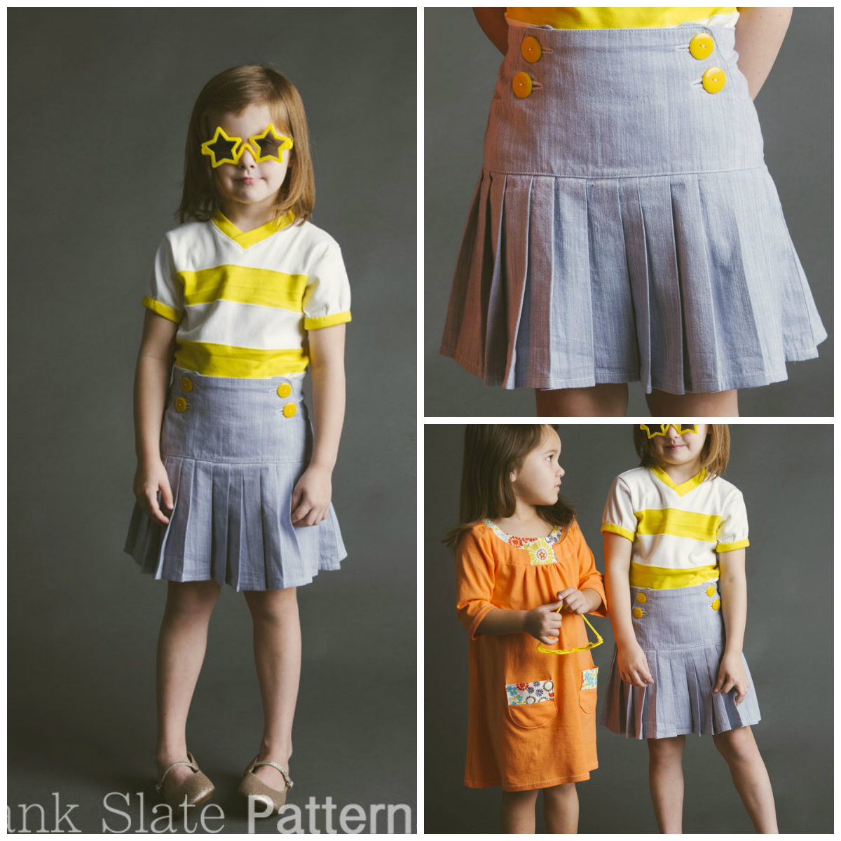 Blank Slate Child's skirt Downloadable Pattern Schoolday Skirt