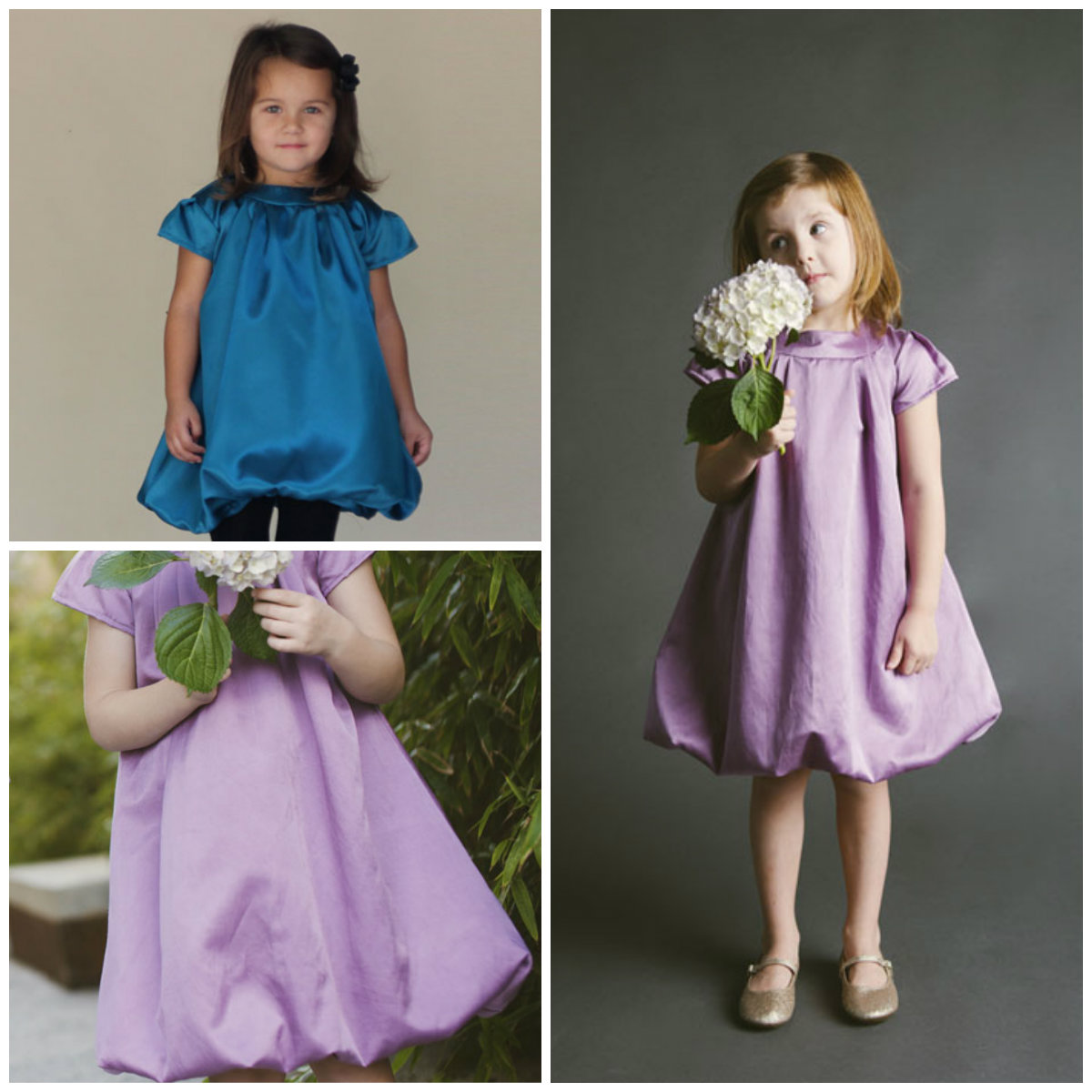 Blank Slate Child's Dress Downloadable Pattern Tiny Bubbles Dress