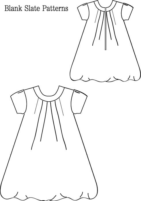 Blank Slate Tiny Bubbles Dress Child S Dress Downloadable