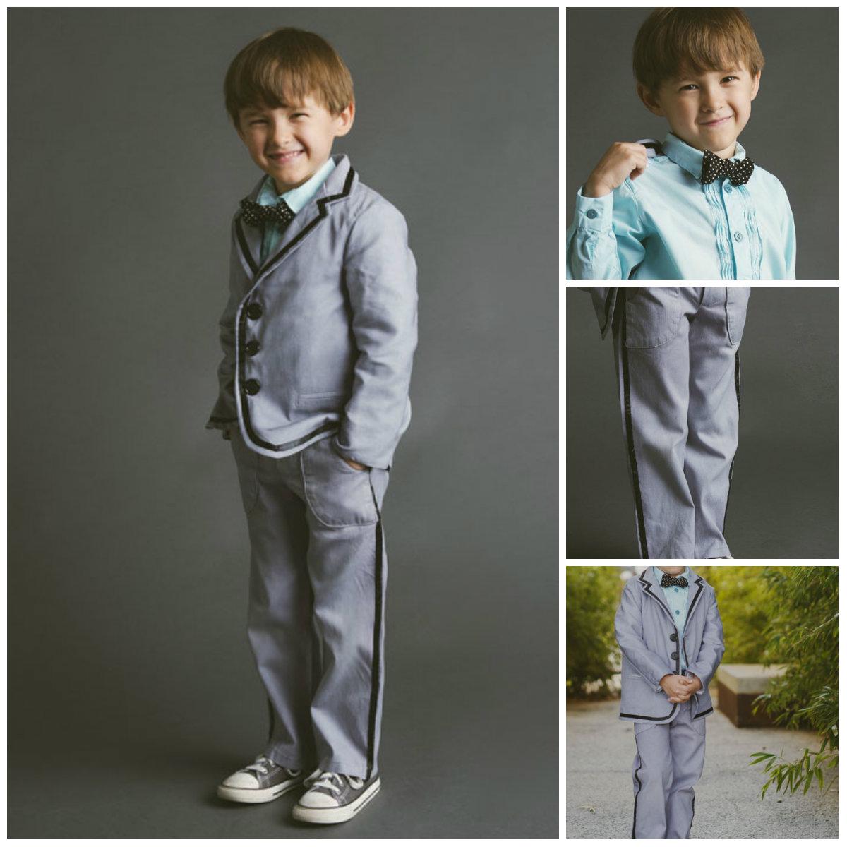 Blank Slate Child's Shirt and Pants Downloadable Pattern Trendy Tuxedo Shirt & Pants