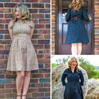 Bluegingerdoll The Winifred Dress Paper Pattern