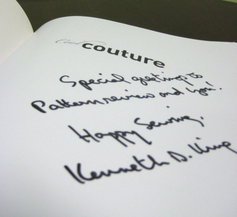 PatternReview Cool Couture Book Signed by Kenneth King book-coolcouture