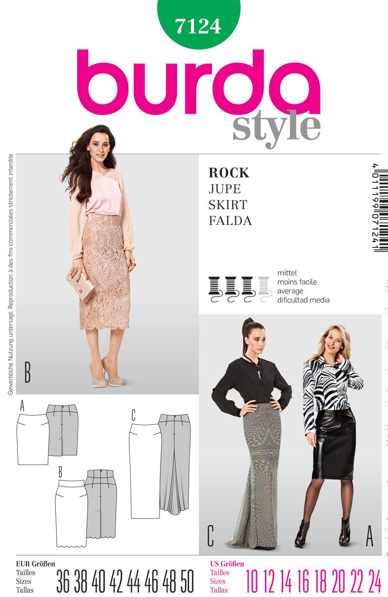 Burda Misses Skirts 7124
