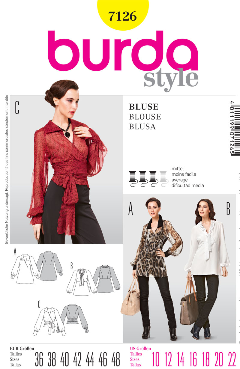 Burda Misses tops 7126