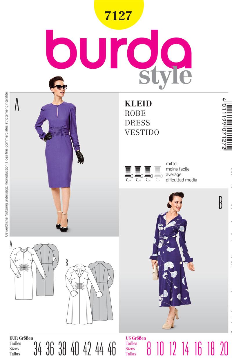 Burda Misses Dress 7127