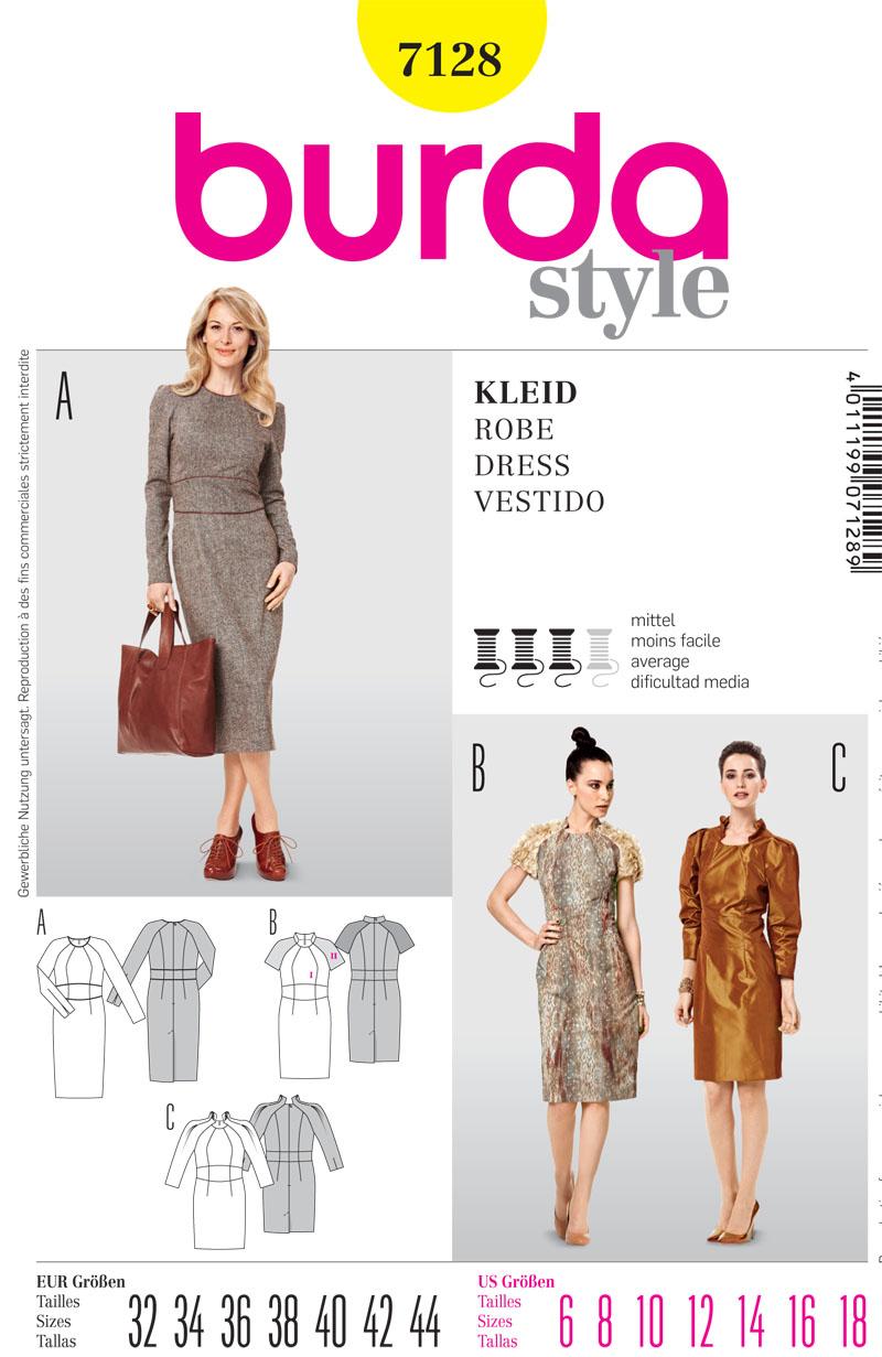 Burda Misses Dress 7128
