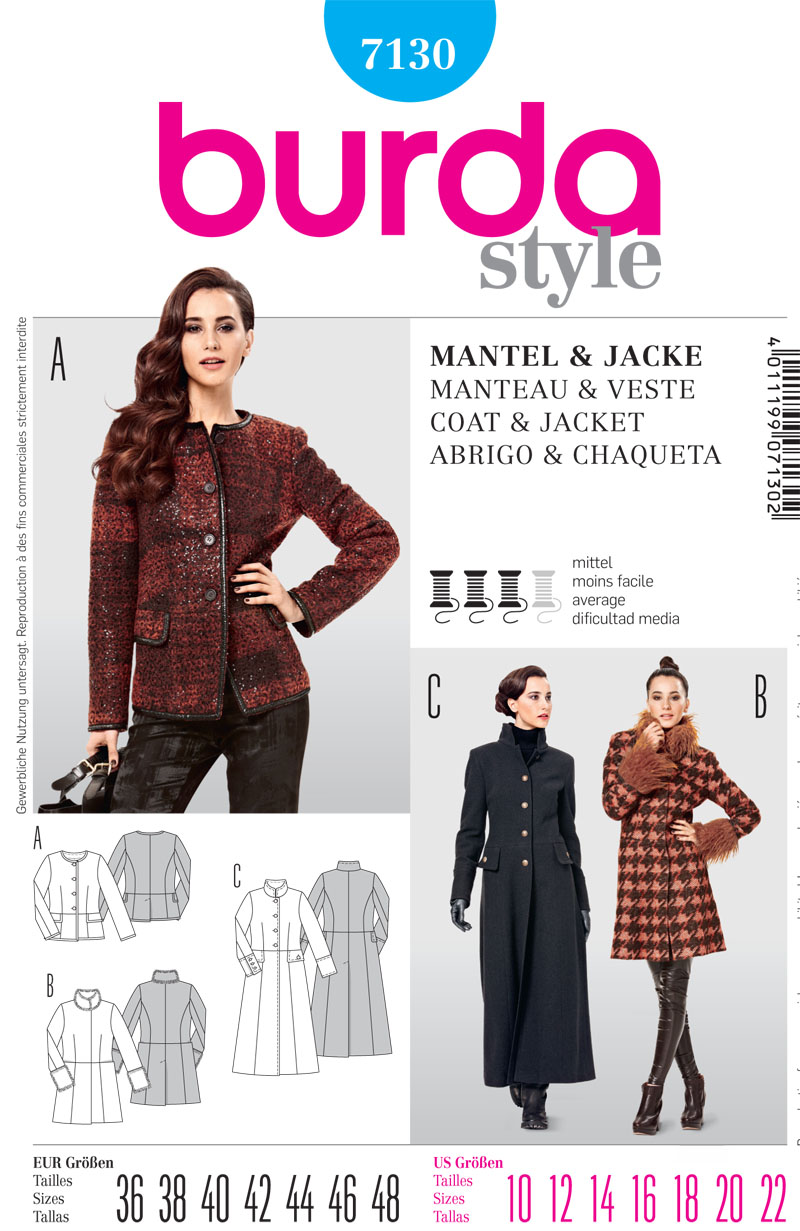 Burda MIsses Jacket 7130