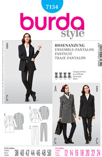 Burda 7134 Pattern