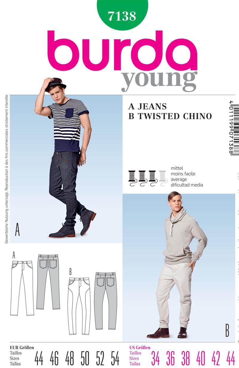 Burda Men's Jeans 7138