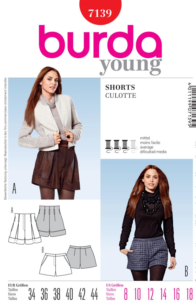 Burda Misses Shorts 7139