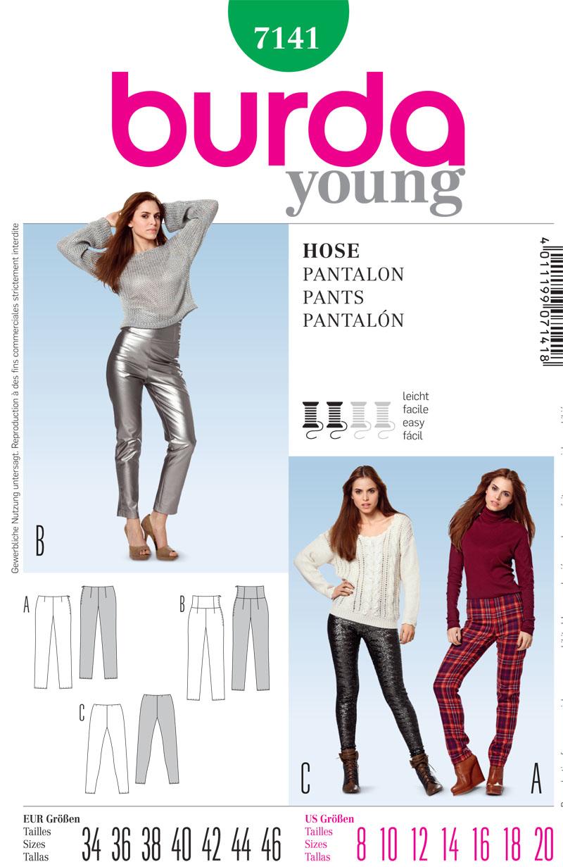 Burda Misses Pants 7141