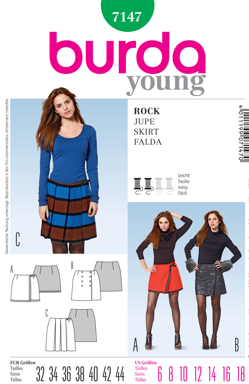 Burda Misses skirt 7147