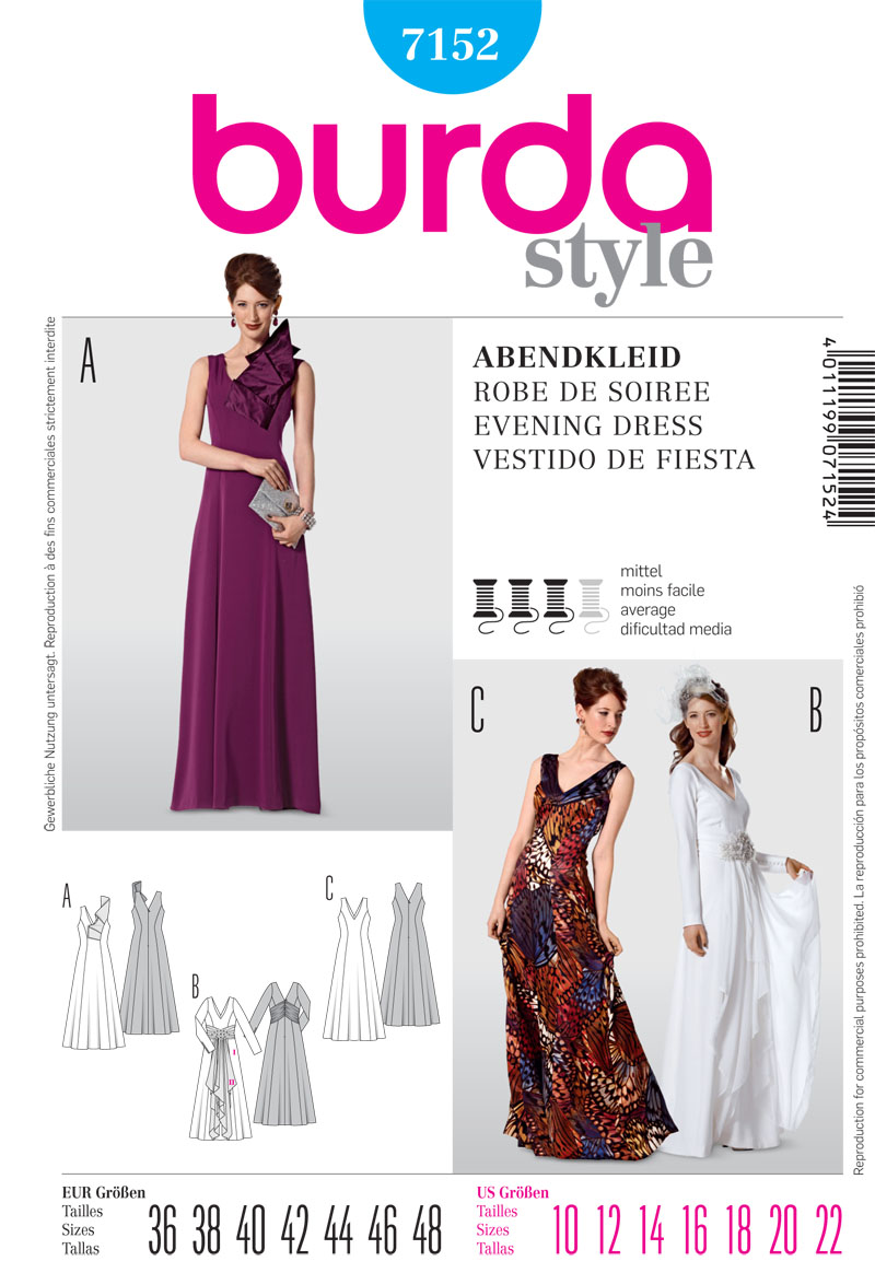 Burda Misses Formalwear 7152