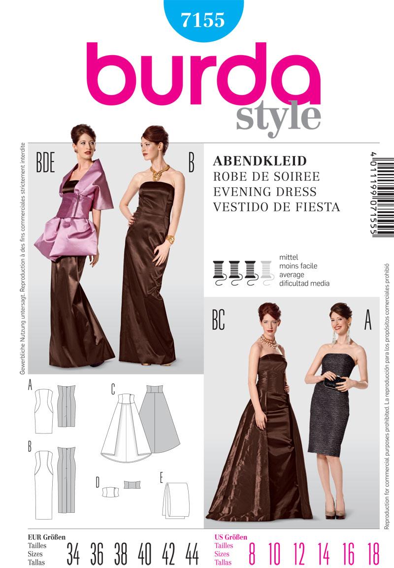 Burda Misses dresses 7155