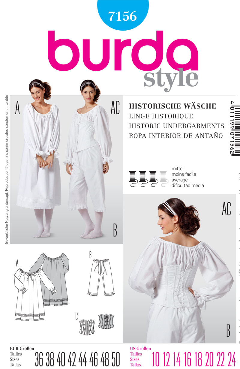 Burda Misses Historic Garments 7156