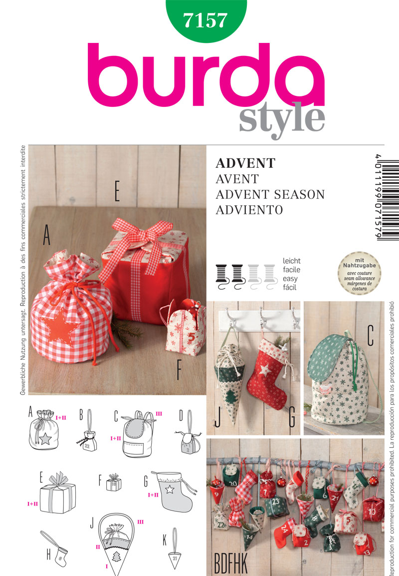 Burda Holiday Crafts 7157