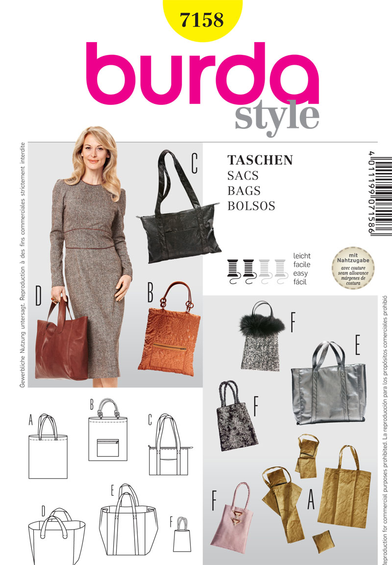 Burda Handbags 7158