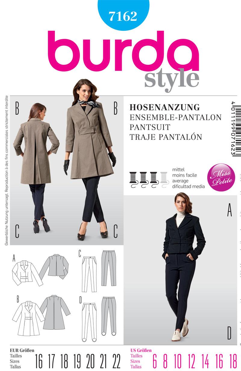 Burda Misses Coats and trousers 7162