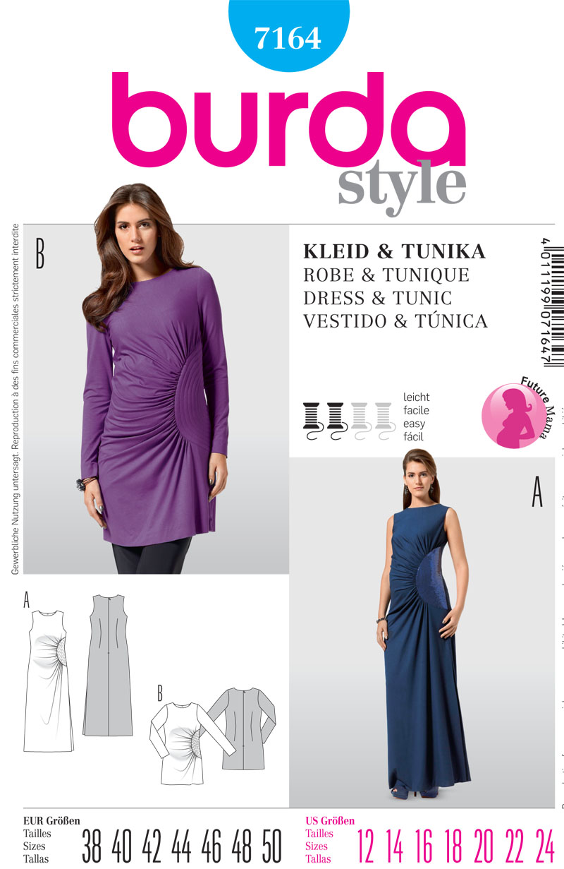 Burda Maternity Dress and Tunic 7164
