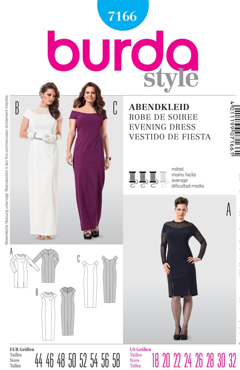 Burda Misses Formalwear 7166