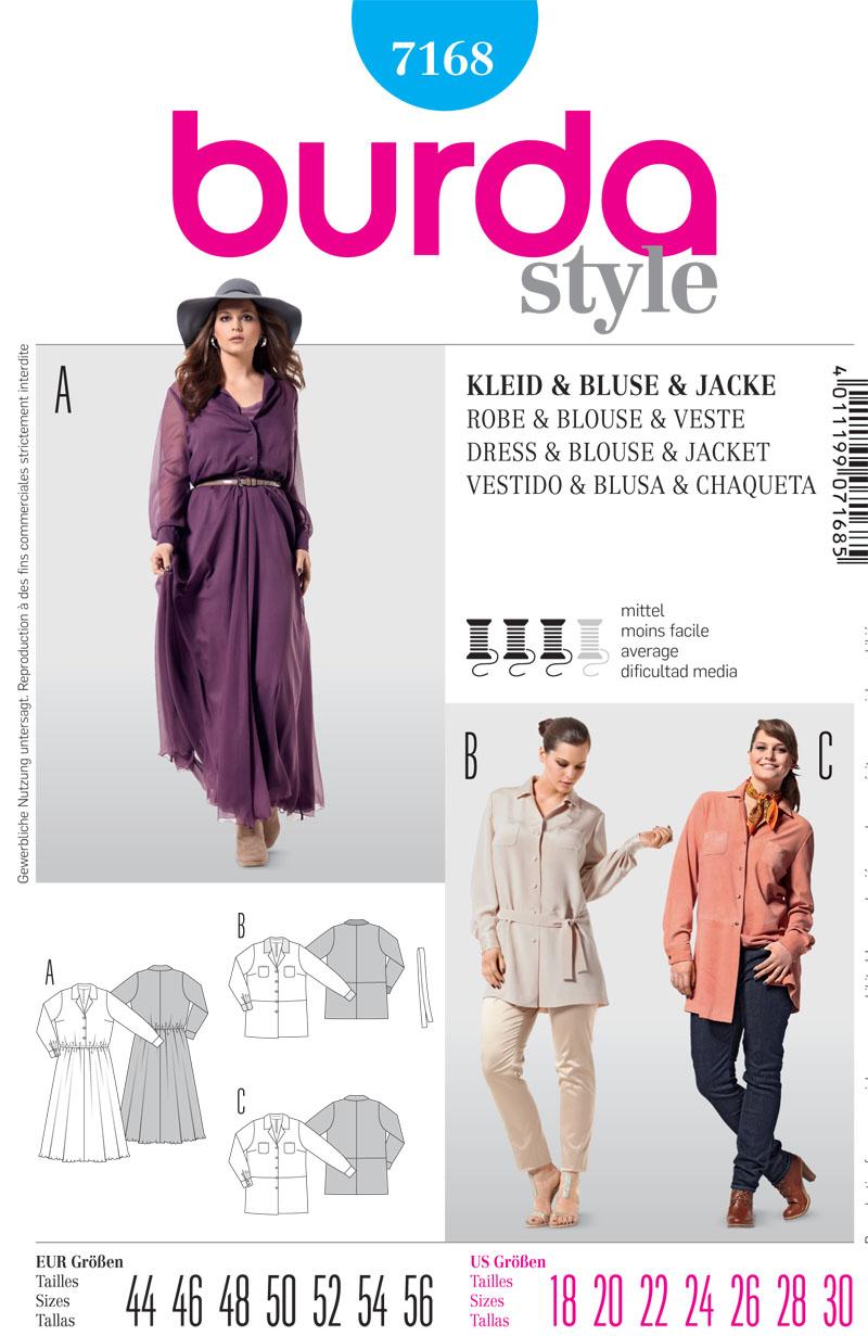 Burda Misses Dress, Blouse and Jacket 7168