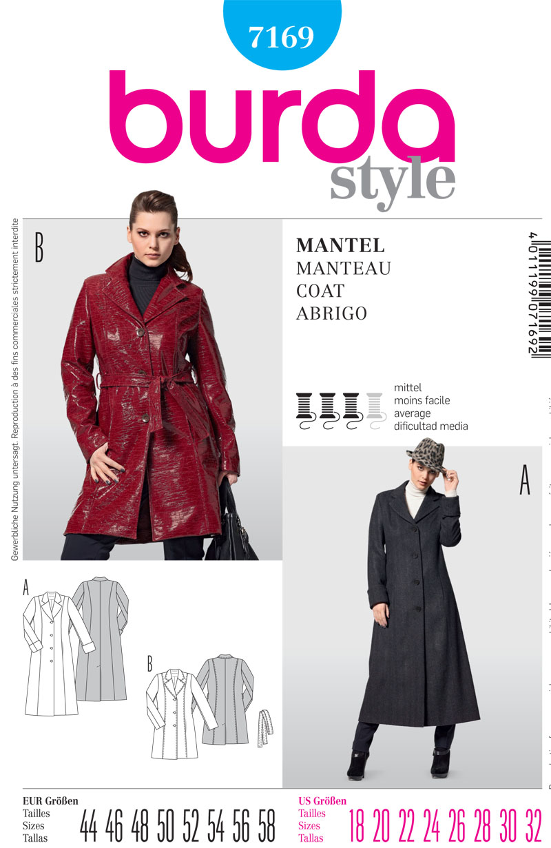 Burda Misses Coat 7169